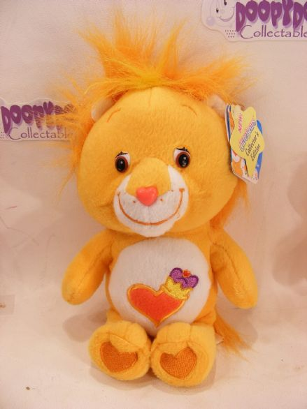 "BNWT COLL EDT 8"" BRAVEHEART LION CARE BEARS BEANIE"
